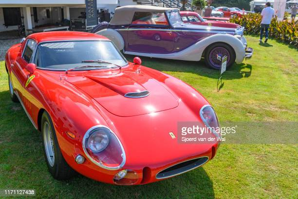 Ferrari 275 GTB LongNose 1966 classic Italian sports car on display at the 2019 Concours d'Elegance at palace Soestdijk on August 25 2019 in Baarn...