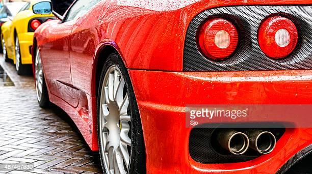 Ferrari 360 Modena desafio Stradale carro desportivo, vista traseira