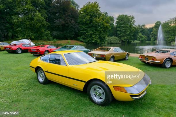 Ferrari 365 GTB/4 Daytona Italian 1970s sports car in yellow