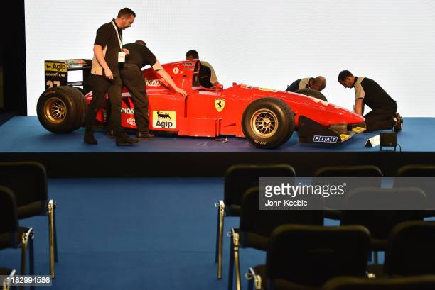 Ferrari 412 T1 Formula One car driven by Jean Alesi to 3rd place in the 1994 Brazilian GP, and by Gerhard Berger to 2nd place in the 1994 Italian GP...