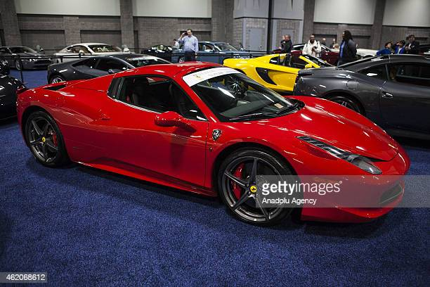 Ferrari 458 Italia on display at the 2015 Washington Auto Show in Washington, D.C. On January 23, 2015.
