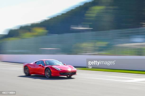 ferrari 458 italia sports car - italia stockfoto's en -beelden