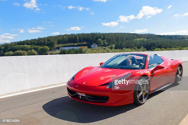 ferrari 458 spider sports car - ferrari stock pictures, royalty-free photos & images