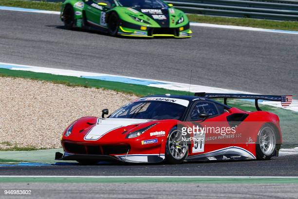 Ferrari 488 GT3 of Luzich Racing driven by Alessandro Pier Guidi and Mikkel Mac during Race 1 of International GT Open at the Circuit de Estoril...