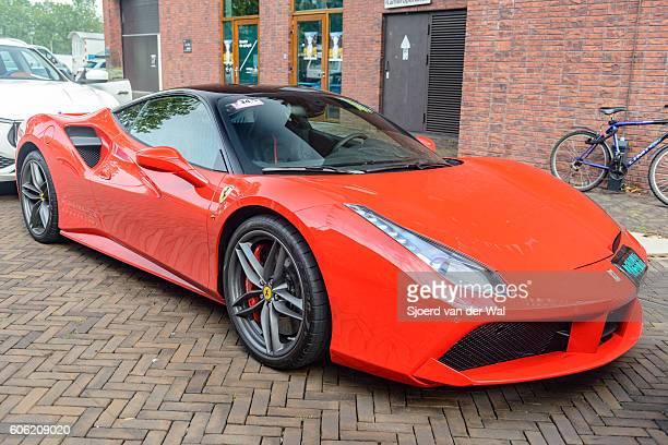 "ferrari 488 gtb italian sports car - ""sjoerd van der wal"" stock pictures, royalty-free photos & images"