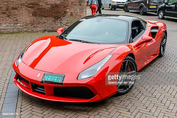 ferrari 488 gtb italian sports car - ferrari stock photos and pictures