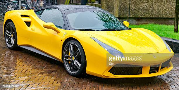 ferrari 488 gtb sports car - ferrari stock pictures, royalty-free photos & images