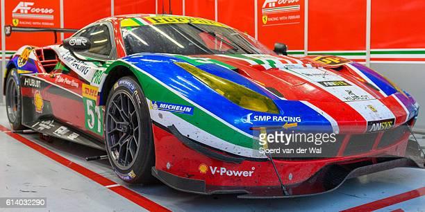 "ferrari 488 gte af corse coche de carreras en el pit - ""sjoerd van der wal"" fotografías e imágenes de stock"
