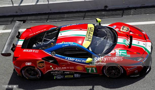 Ferrari 488 GTE EVO of Davide Rigon and Miguel Molina , during the FIA World Endurance Championship Prologue Barcelona, on 23th July 2019, in...