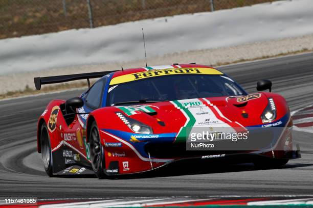 Ferrari 488 GTE EVO of James Calado and Alesandro Pier Guidi during the FIA World Endurance Championship Prologue Barcelona on 23th July 2019 in...