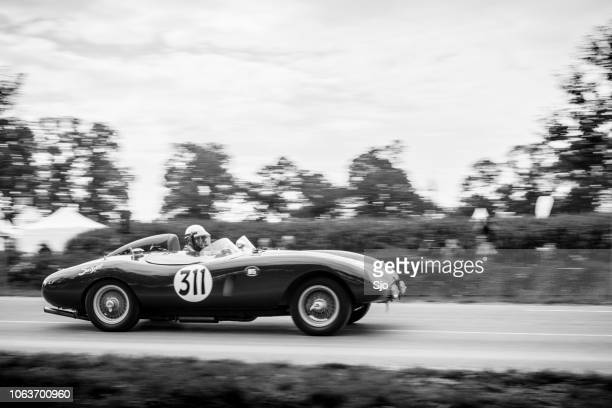ferrari 500 mondial replica racing car - ferrari stock pictures, royalty-free photos & images