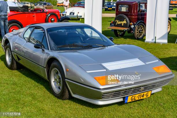 Ferrari 5112 BB Berlinetta Boxer classic 1970s Italian sports car on display at the 2019 Concours d'Elegance at palace Soestdijk on August 25 2019 in...