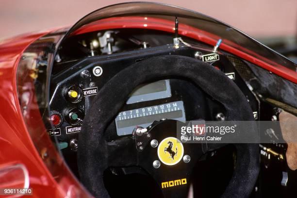 Ferrari 640, Grand Prix of Monaco, Circuit de Monaco, 07 May 1989. Steering wheel and dashboard of Ferrari 640.