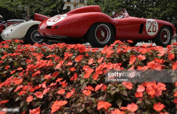 Ferrari 750 Monza on display at the Concorso d'Eleganza Villa d'Este at Villa d'Este on May 26 2018 in Como Italy Approximately 50 Historic Cars are...