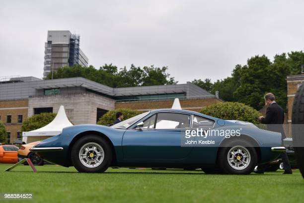 Ferrari Dino 246 GT on display at the London Concours at the Honourable Artillery Company on June 7 2018 in London England The event billed as the...
