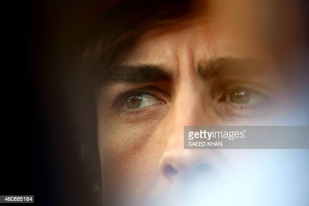 Ferrari driver Fernando Alonso of Spain speaks to the media ahead of the Formula One Korean Grand Prix in Yeongam on October 13, 2011. AFP PHOTO /...