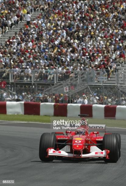 Ferrari driver Michael Schumacher of Germany during the Canadian Formula One Grand Prix held at the Gilles Villeneuve Circuit in Montreal Canada on...