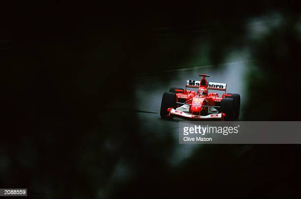 Ferrari driver Michael Schumacher of Germany in action during the Canadian Formula One Grand Prix held on June 15 2003 at the Gilles Villeneuve...