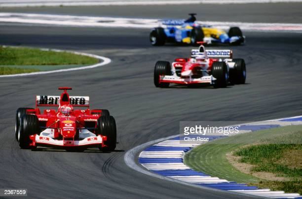 Ferrari driver Michael Schumacher of Germany in action during the German Formula One Grand Prix held on August 3 2003 at Hockenheim in Germany
