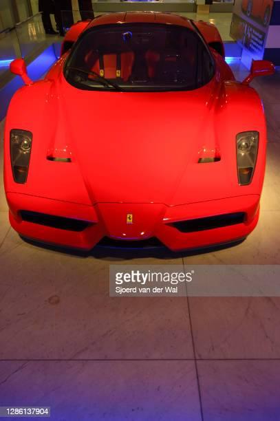 Ferrari Enzo Supercar on display at Amsterdam motor show AutoRAI on February 9, 2005 in Amsterdam, The Netherlands.