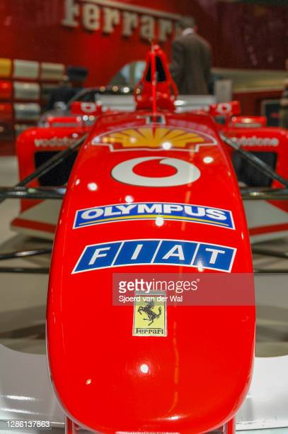 Ferrari F1 car front view detail on display at Amsterdam motor show AutoRAI on February 9, 2005 in Amsterdam, The Netherlands. The Ferrari F2004 is...