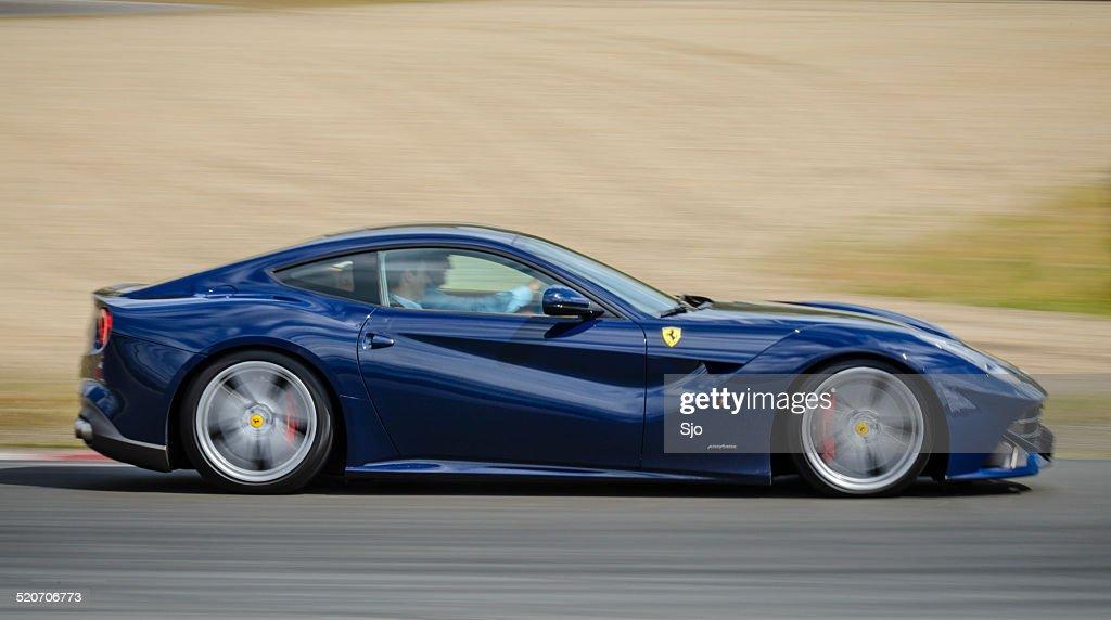 Ferrari F12 Berlinetta Sports Car Driving Fast Stock Photo Getty