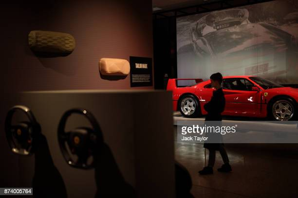 Ferrari F40 1987 on display at the 'Ferrari Under the Skin' exhibition at the Design Museum on November 14 2017 in London England £140M worth of...