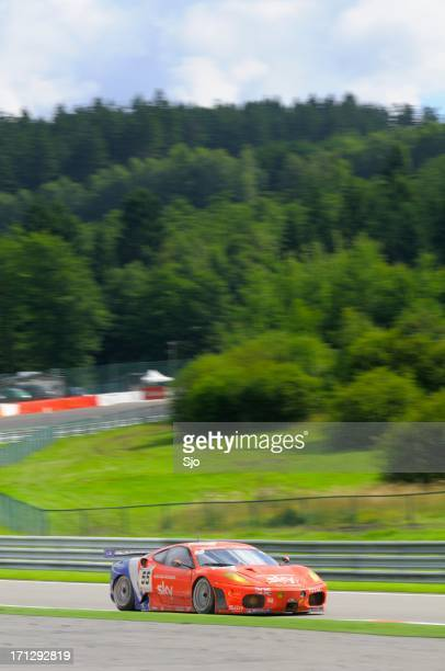 ferrari f430 gt race car at the race track - fia gt championship stock pictures, royalty-free photos & images
