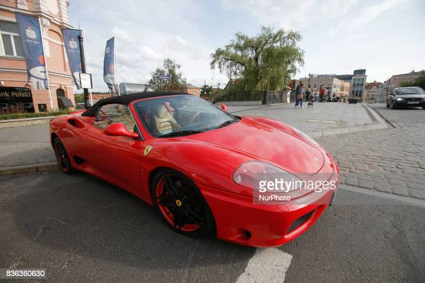Ferrari F430 is seen in the old center of the city on 19 August, 2017.