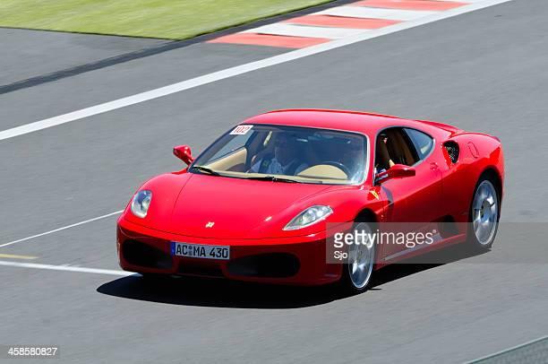 ferrari f430 on track - ferrari stock photos and pictures