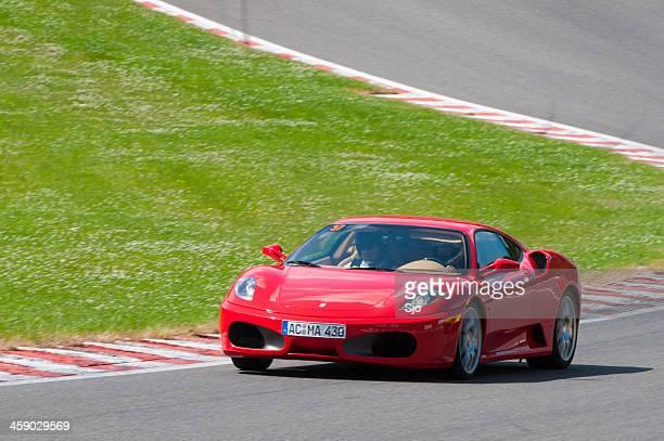 Ferrari F430 on track