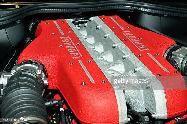 ferrari ff gt sports car v12 engine - v12 stock photos and pictures