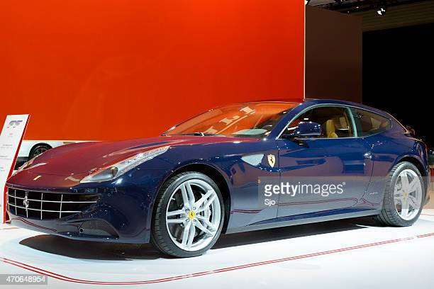 """ferrari ff v12 gt sports car front view - """"sjoerd van der wal"""" or """"sjo"""" stock pictures, royalty-free photos & images"""