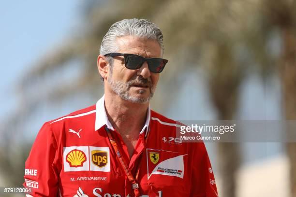 Ferrari Formula One team principal Maurizio Arrivabene in the Paddock the Abu Dhabi Formula One Grand Prix