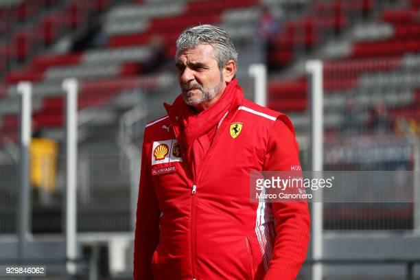 CATALUNYA MONTMELò BARCELONA SPAIN Ferrari Formula One team principal Maurizio Arrivabene in the Paddock during day four of F1 Winter Testing