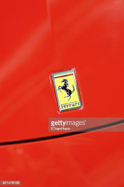 ferrari hood ornament - vehicle brand name stock pictures, royalty-free photos & images