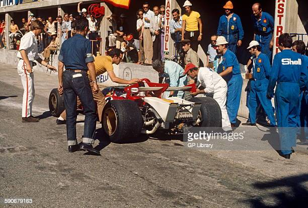 Ferrari in the pits at the Italian GP Monza 6 September 1970