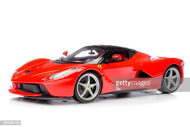 ferrari laferrari hybrid sports car model car - ferrari stock pictures, royalty-free photos & images