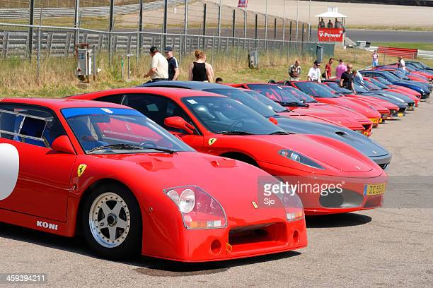 ferrari line up - maranello stock pictures, royalty-free photos & images
