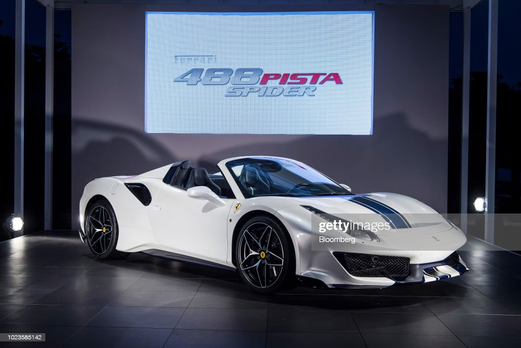 Unveiling Event At Casa Ferrari During Pebble Beach Concours d'Elegance : News Photo