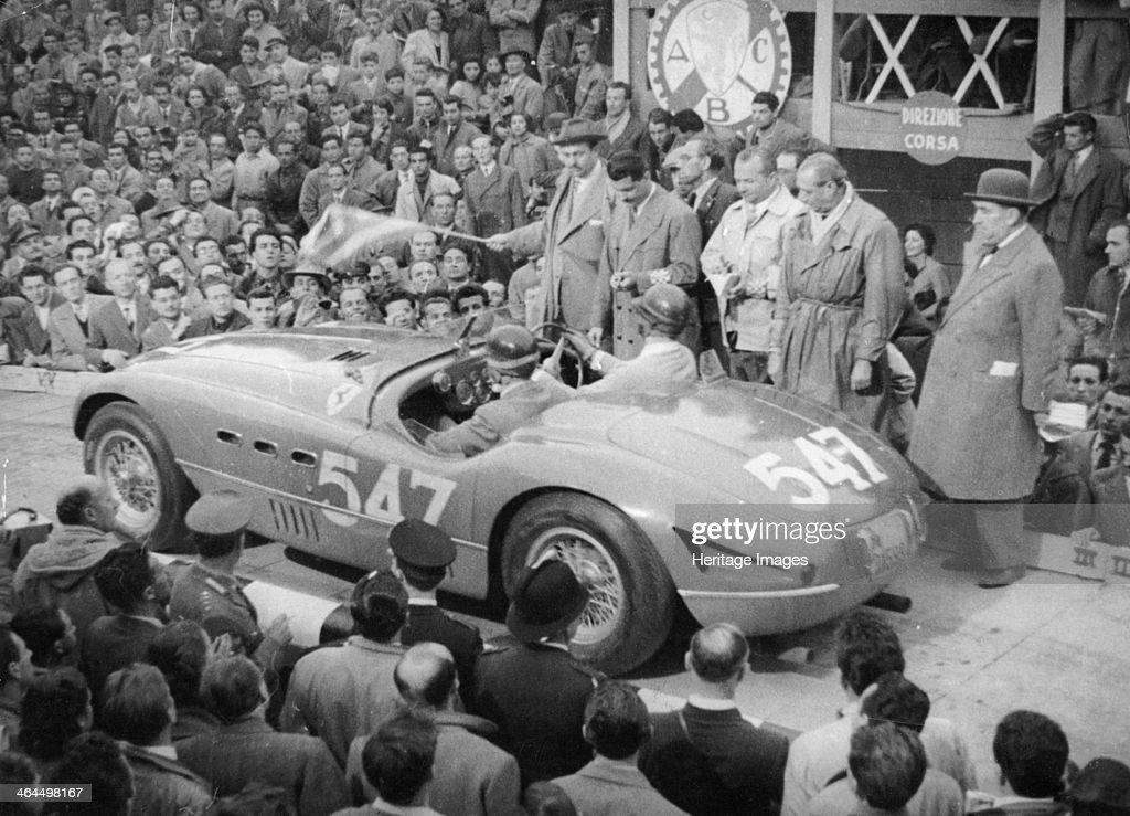 Ferrari of Giannino Marzotto, Mille Miglia, Italy, 1953. : News Photo