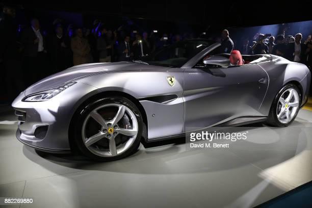 Ferrari Portofino at the UK launch of the Ferrari Portofino at Kensington Olympia on November 29 2017 in London England