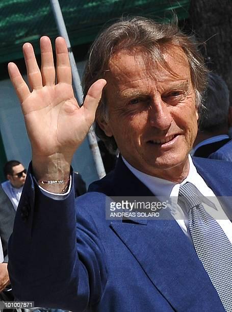 Ferrari President Luca Cordero di Montezemolo arrives at the 100th anniversary congress of the Confindustria on May 27, 2010 in Rome. AFP PHOTO /...
