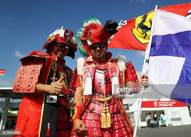 Ferrari samurai in the fan zone during previews ahead of the Formula One Grand Prix of Japan at Suzuka Circuit on October 6 2016 in Suzuka