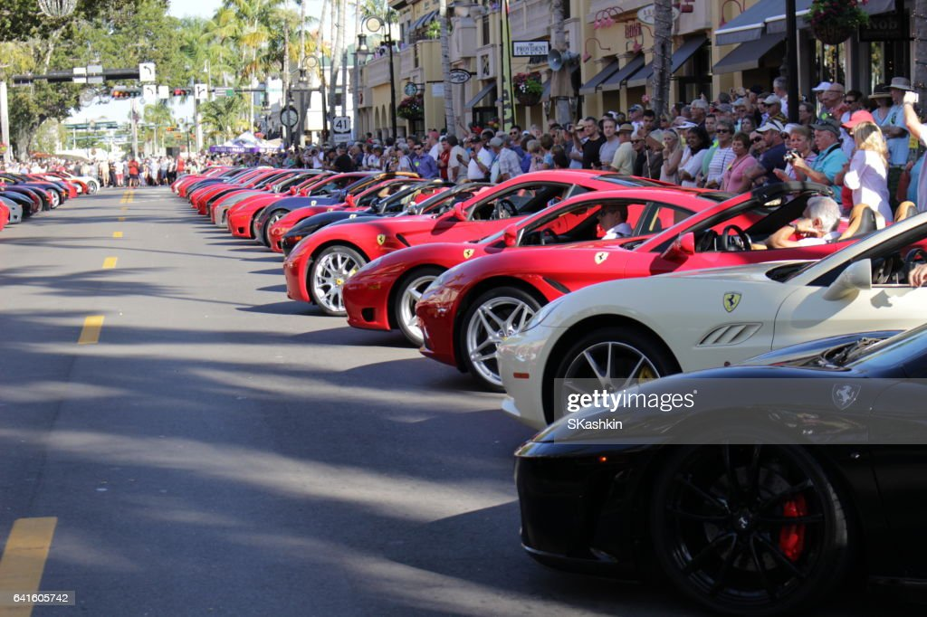 Ferrari Show In Naples Fl February Stock Photo Getty Images - Car show naples fl today