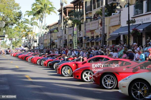 ferrari show in naples fl 11 february 2017 - naples florida stock pictures, royalty-free photos & images