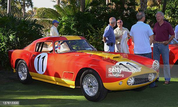Ferrari SpA 250 GT LWB Competizione is displayed during the Cavallino Classic Ferrari Convention in Palm Beach Florida US on Saturday Jan 21 2012 The...