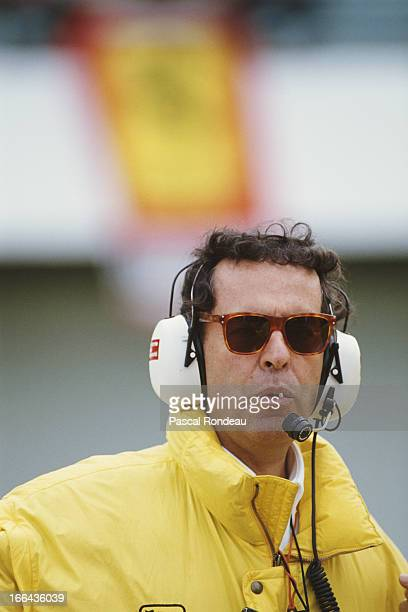 Ferrari Sporting Director Cesare Fiorio during pre season testing on 10th February 1990 at the Autodromo do Estoril in Estoril Portugal