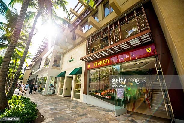 Ferrari Store in Waikiki, Honolulu, USA