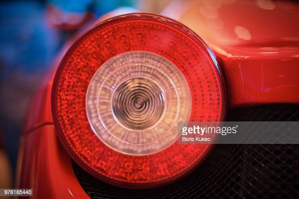 ferrari tail light - tail light stock pictures, royalty-free photos & images